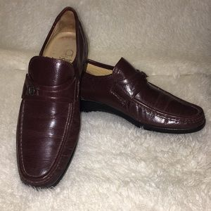 French Shriner Kid Leather Loafers Size 7.5M Brown